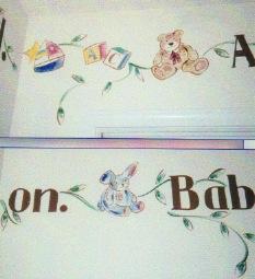 babys room mural