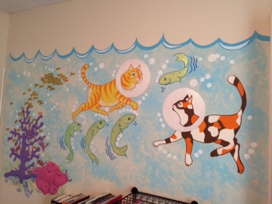Fanciful mural for girls room